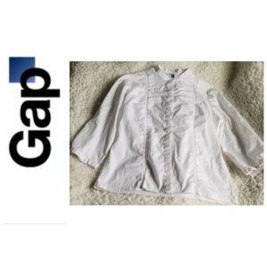 *Gap* White, Button-up, Medium Blouse